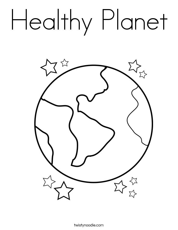 Healthy Planet Coloring Page