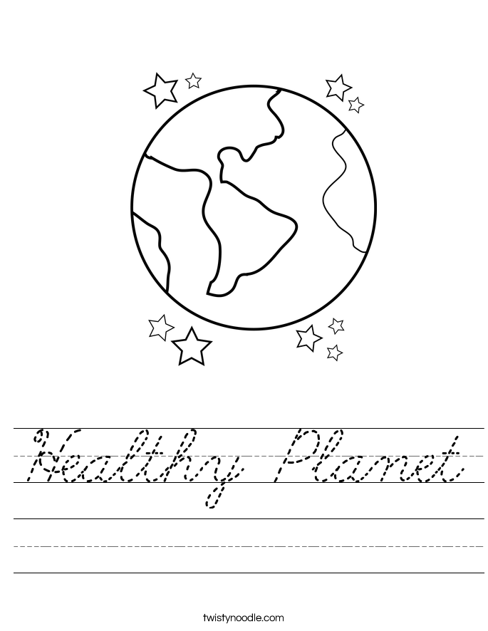 Healthy Planet Worksheet