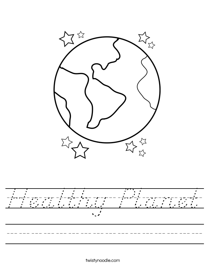 Healthy Planet Worksheet