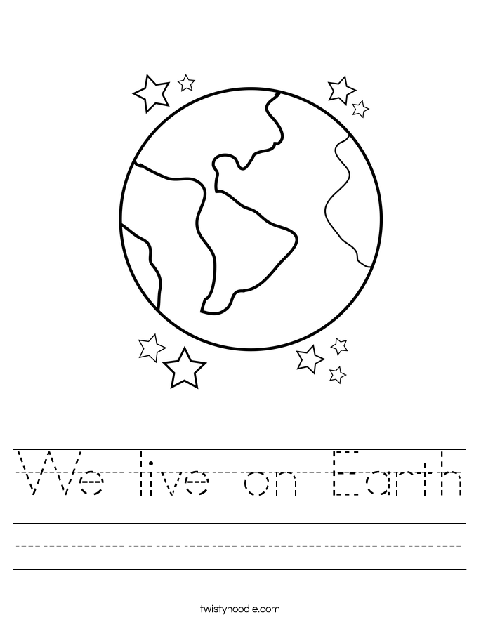 We live on Earth Worksheet