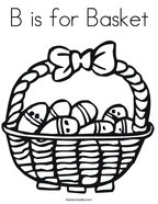 B is for Basket Coloring Page