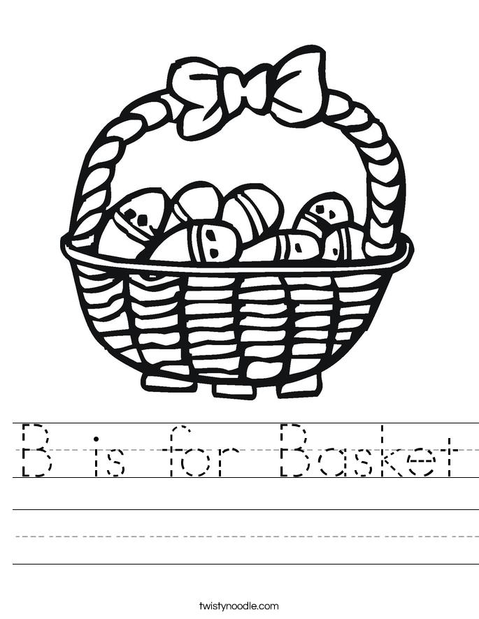 B is for Basket Worksheet
