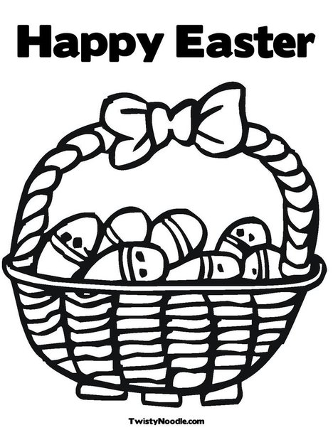 happy easter coloring pages. Happy Easter Coloring Page