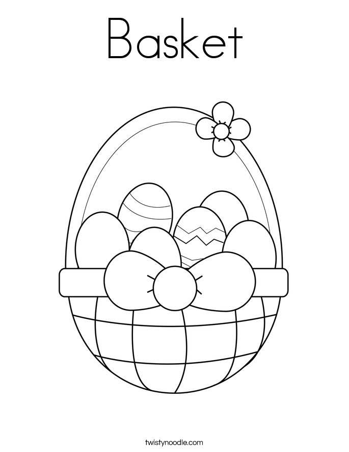 Basket Coloring Page