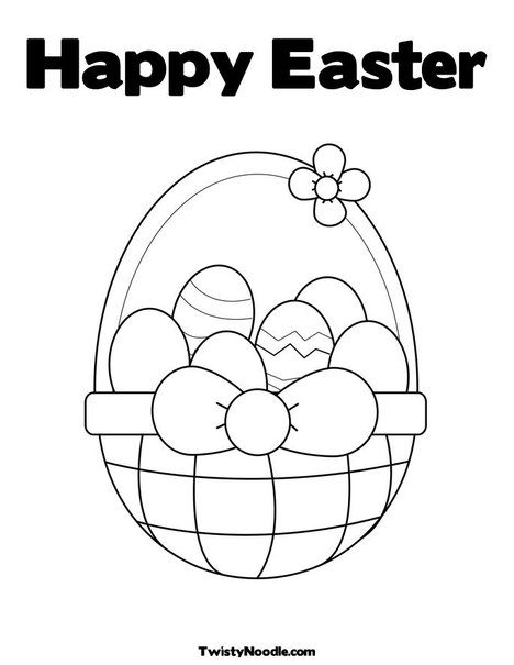 Happy Easter Coloring Pictures