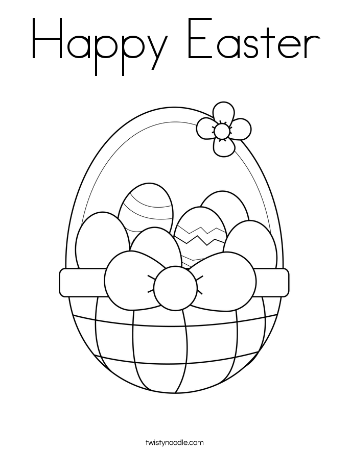 happy easter coloring page - Easter Color Pages