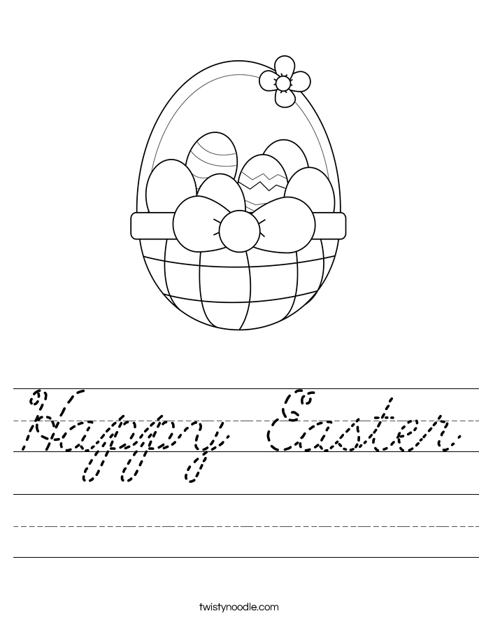 Happy Easter Worksheet