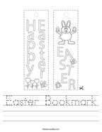 Easter Bookmark Handwriting Sheet
