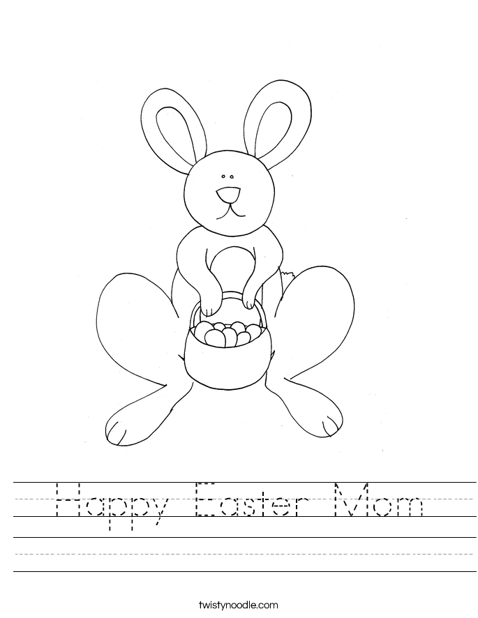 Happy Easter Mom  Worksheet