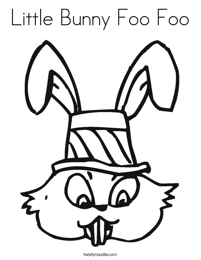 Little Bunny Foo Foo Coloring Page