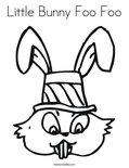 Little Bunny Foo Foo Coloring Page