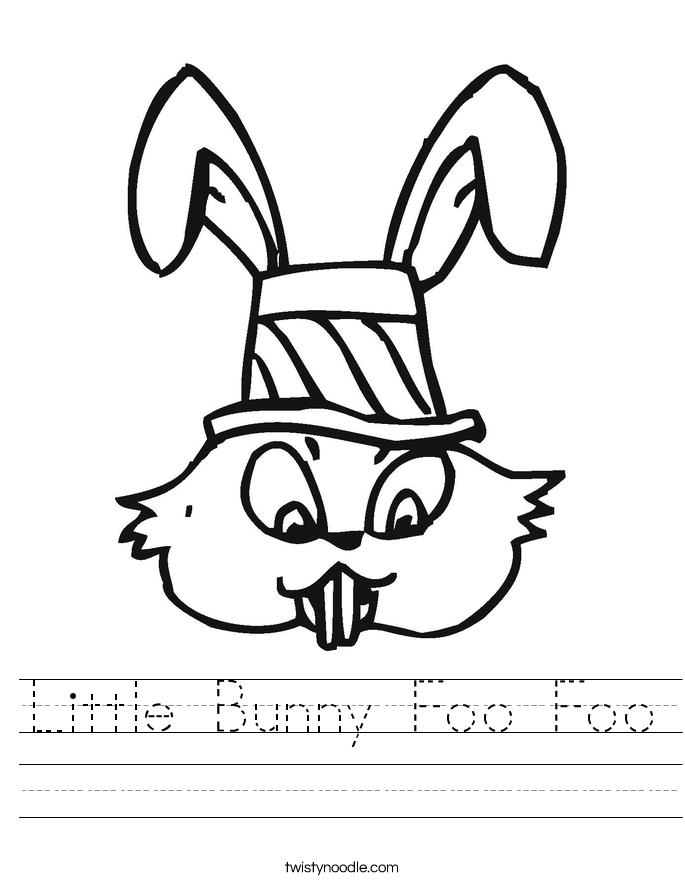Little Bunny Foo Foo Worksheet