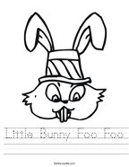 Little Bunny Foo Foo Handwriting Sheet