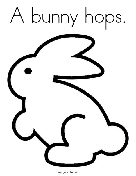 Colorful Rabbit Coloring Page