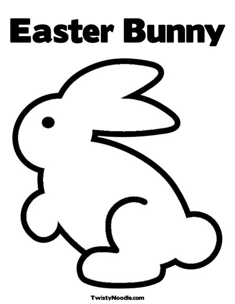 easter bunny pictures to print. Easter Bunny 3 Coloring Page