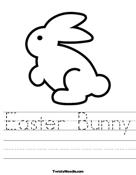 easter bunny pictures to print. Easter Bunny 3 Worksheet