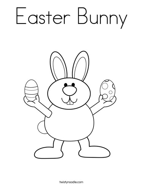 Easter Bunny Coloring Page - Twisty Noodle