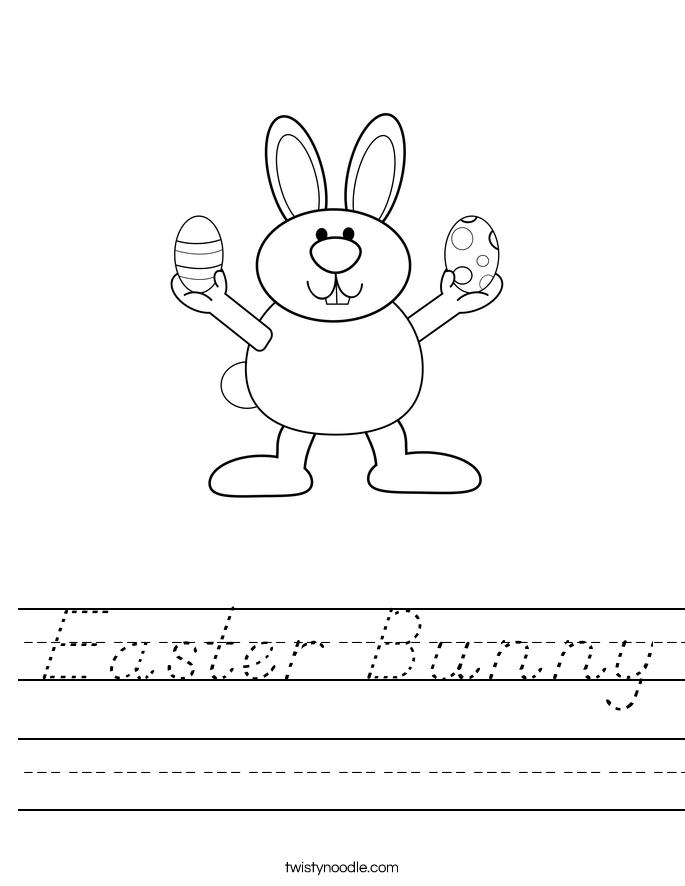 Easter Bunny Worksheet