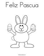 Feliz Pascua Coloring Page