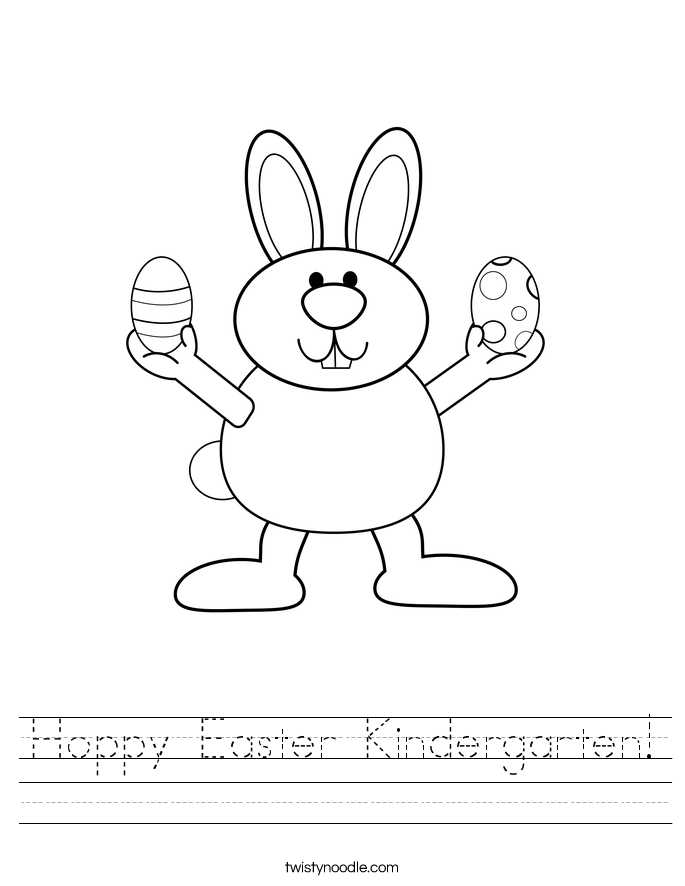 Hoppy Easter Kindergarten! Worksheet