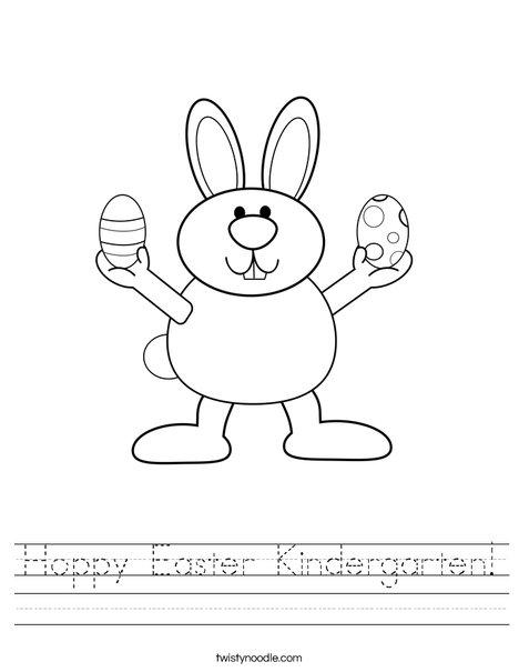 math worksheet : hoppy easter kindergarten worksheet  twisty noodle : Kindergarten Drawing Worksheets