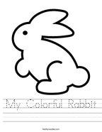 My Colorful Rabbit Handwriting Sheet