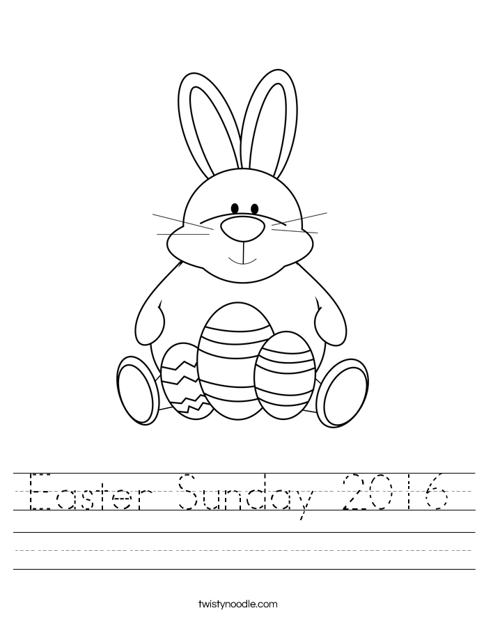 Easter Sunday 2016 Worksheet
