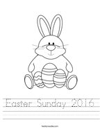 Easter Sunday 2016 Handwriting Sheet