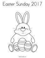Easter Sunday 2017 Coloring Page