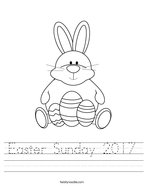 Easter Sunday 2017 Handwriting Sheet