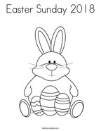 Easter Sunday 2018 Coloring Page