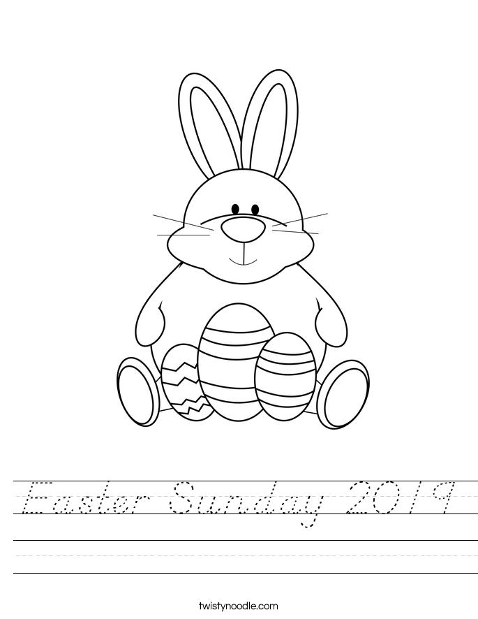 Easter Sunday 2019 Worksheet
