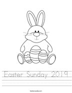 Easter Sunday 2019 Handwriting Sheet