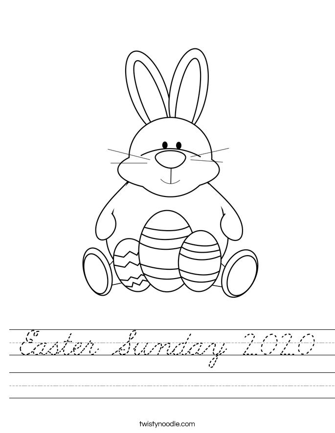 Easter Sunday 2020 Worksheet