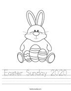 Easter Sunday 2020 Handwriting Sheet