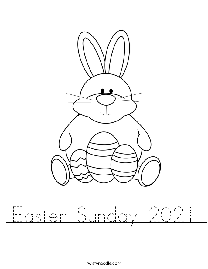 Easter Sunday 2021 Worksheet