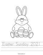 Easter Sunday 2021 Handwriting Sheet