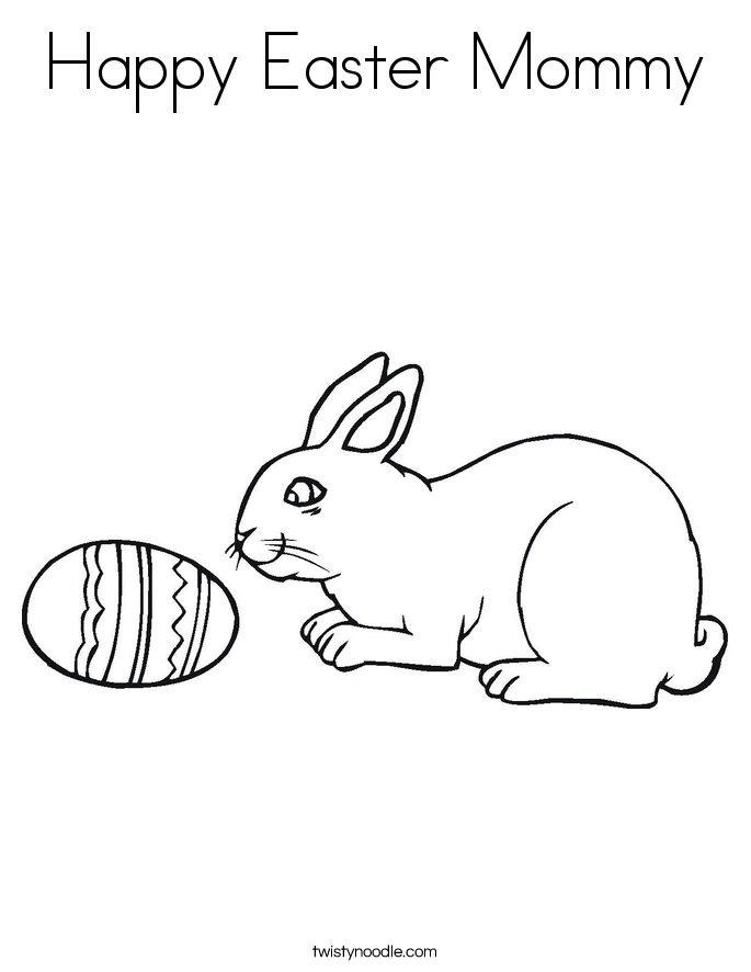 Happy Easter Mommy Coloring Page