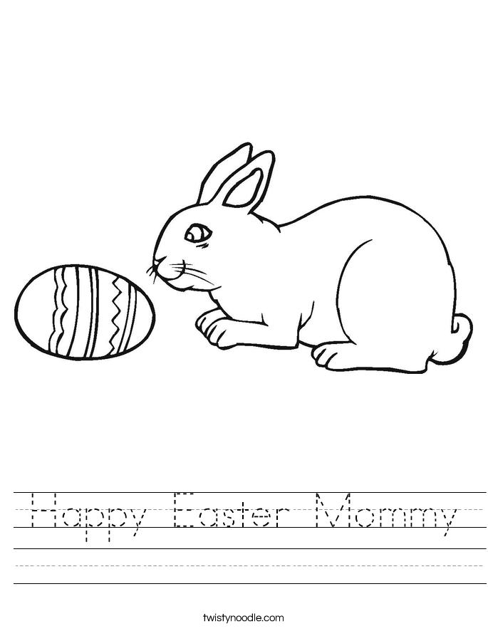 Happy Easter Mommy Worksheet