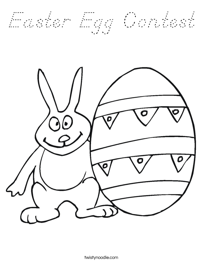 Easter Egg Contest Coloring Page