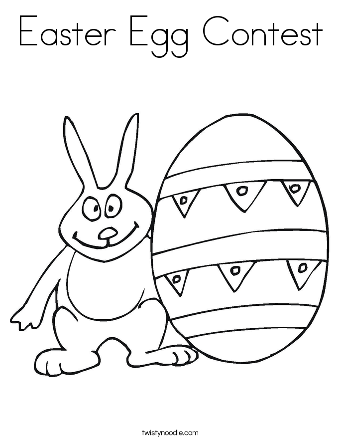 Easter Egg Contest Coloring Page Twisty Noodle
