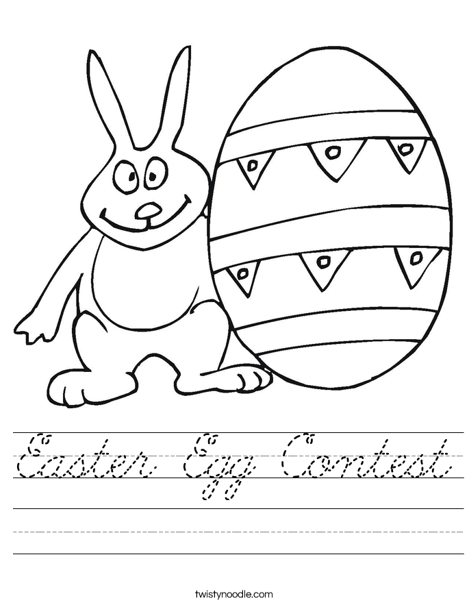 Easter Egg Contest Worksheet