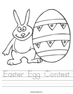 Easter Egg Contest Handwriting Sheet