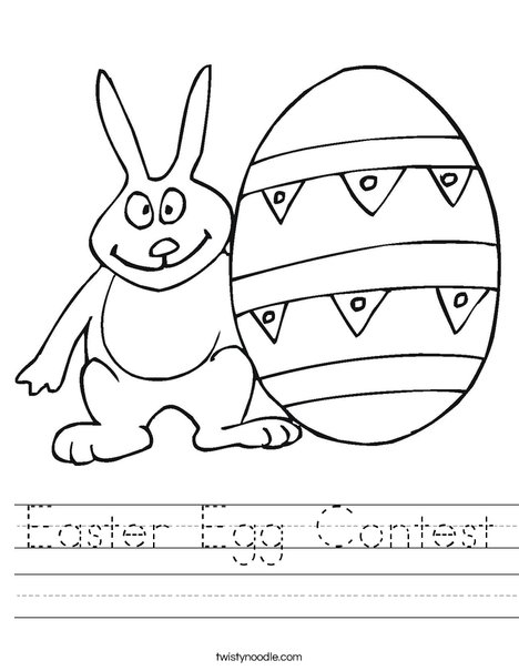 easter bunny and egg worksheet - Easter Egg Printables