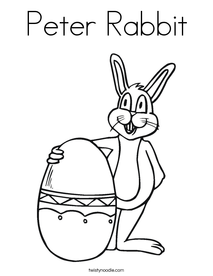 Peter rabbit coloring page twisty noodle for Peter cottontail coloring pages