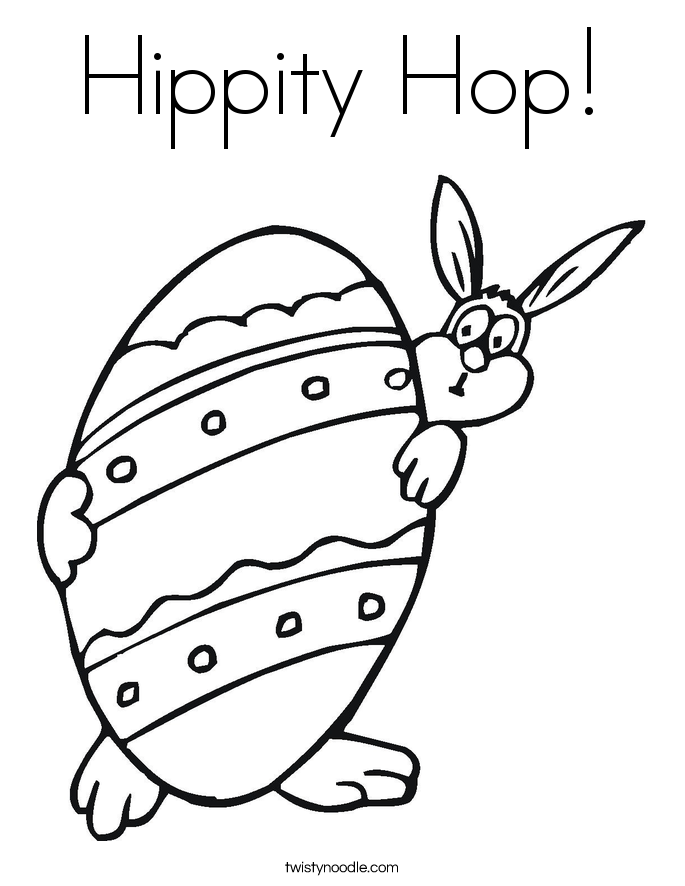 Hippity Hop! Coloring Page