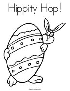 Hippity Hop Coloring Page
