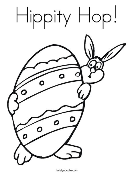 Easter Bunny and Large Egg Coloring Page