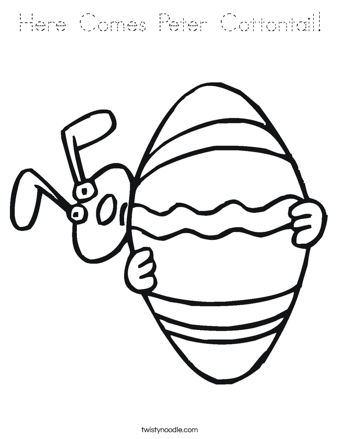 Here Comes Peter Cottontail! Coloring Page