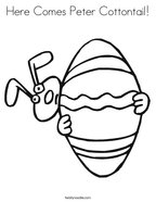 Here Comes Peter Cottontail Coloring Page